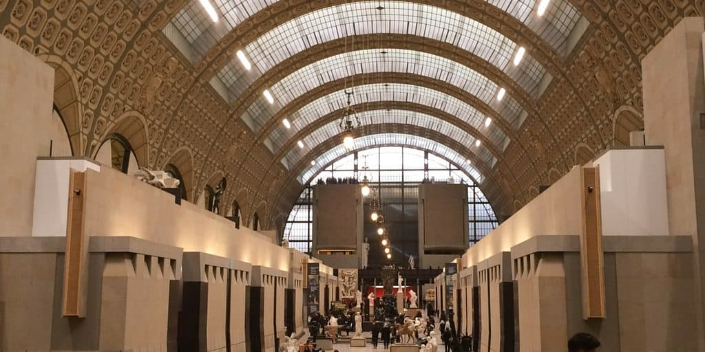 The stunning interior of the Musee D'Orsay