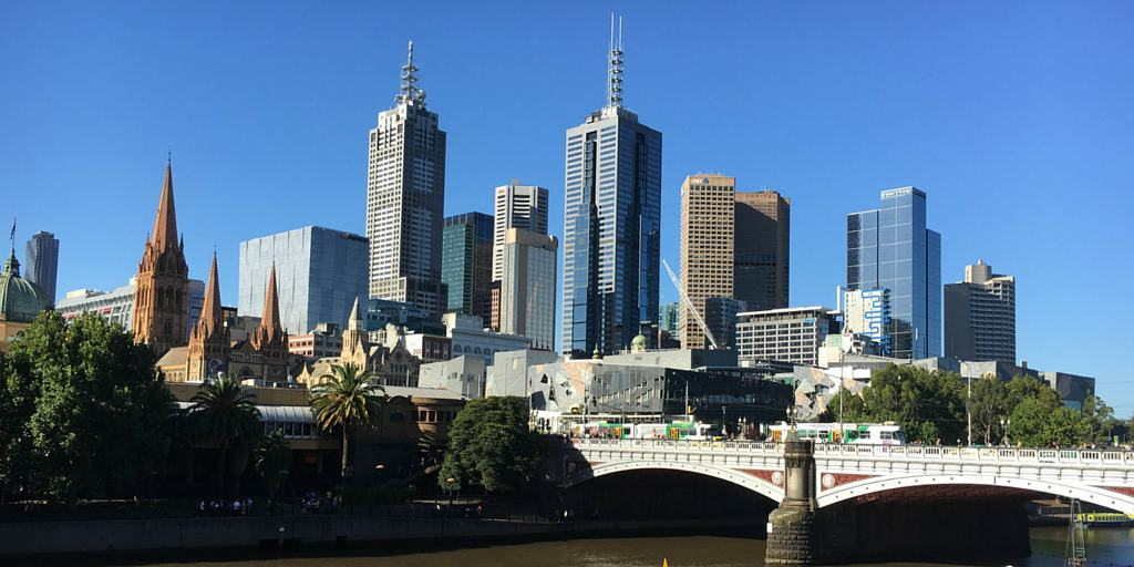 Melbourne CBD from Southban