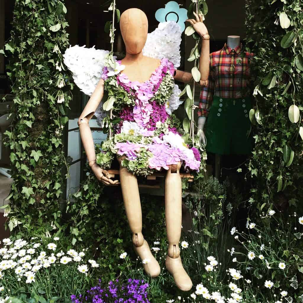 Floral displays at Mary Quant - CFS 2015