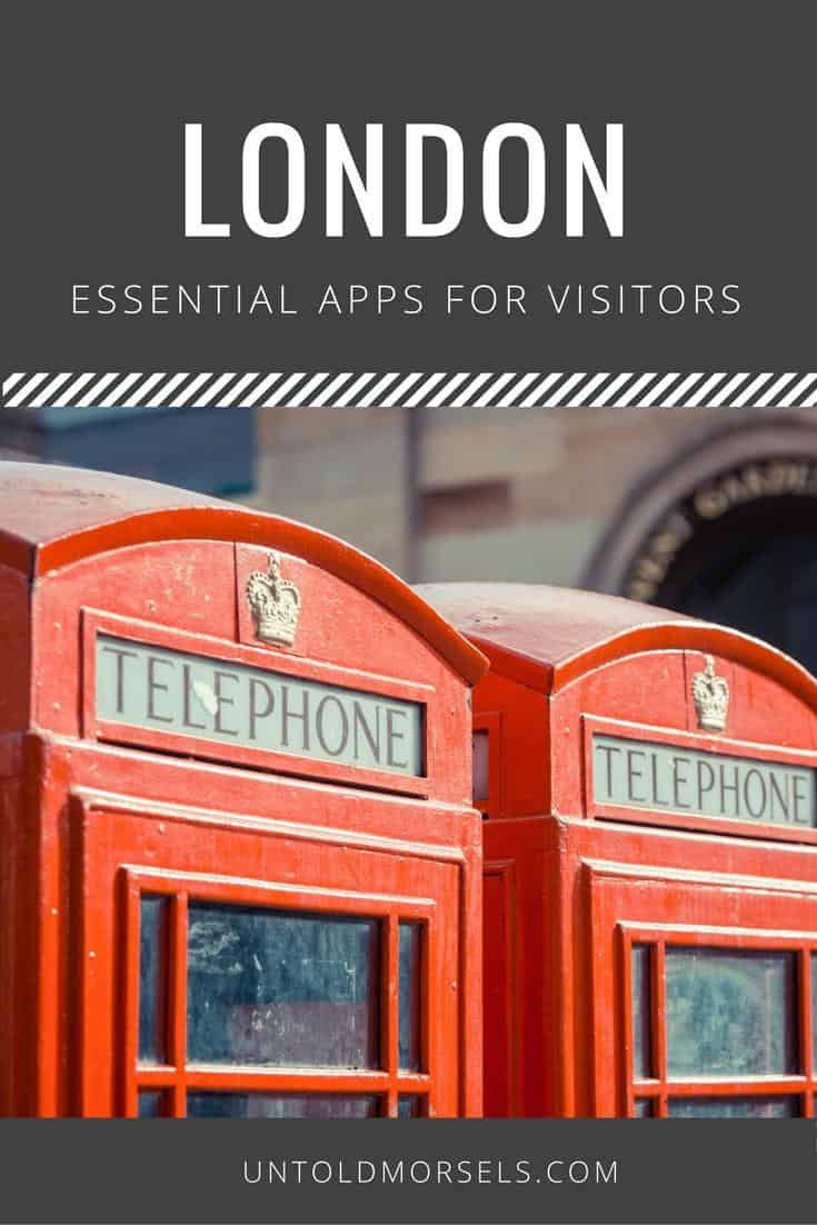 London apps - useful apps for visitors to London