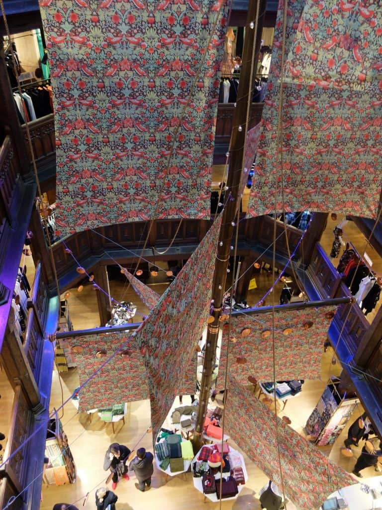 Liberty of London - tips on shopping for scarves at one of the world's most interesting department stores