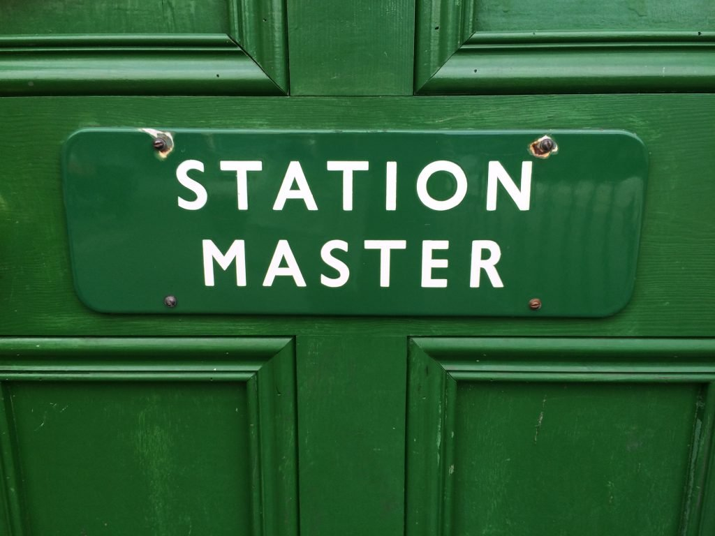 Station Master's door - Steam train day out - Hampshire
