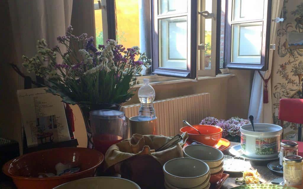 breakfast at la romea lucca tuscany italy