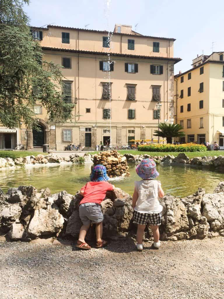 By the fountain near San Pietro gate