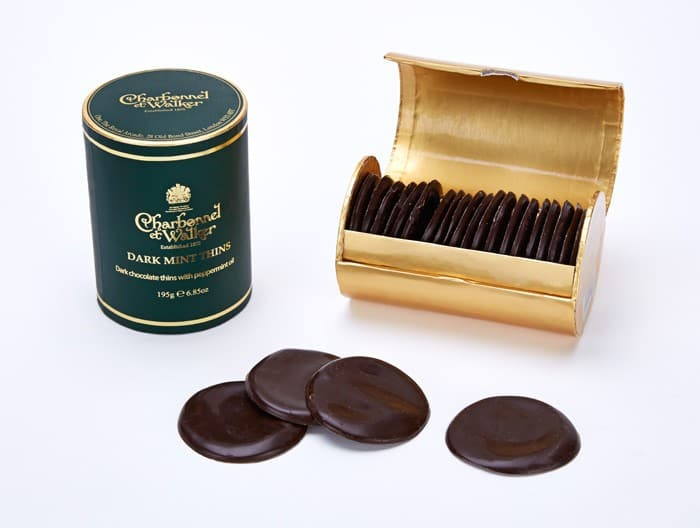 Charbonnel et Walker dark mint chocolate thins