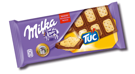 Milka with Tuc crackers