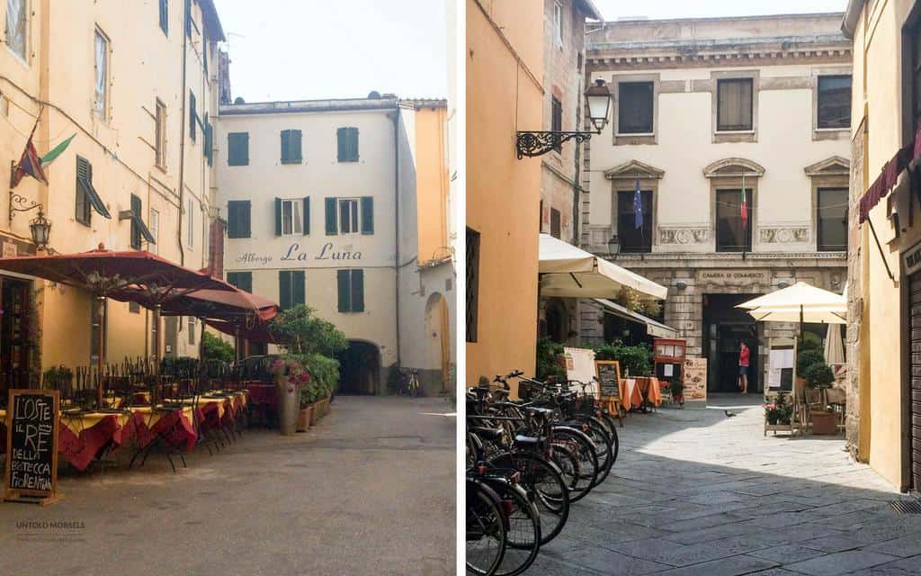 the cafes of lucca