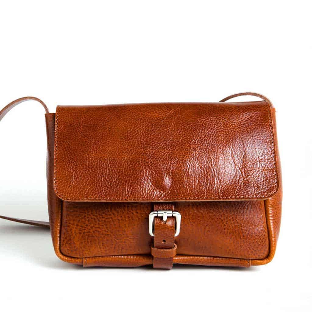 Rib Hull Heirloom mini bag in cognac on Pour La Pomme