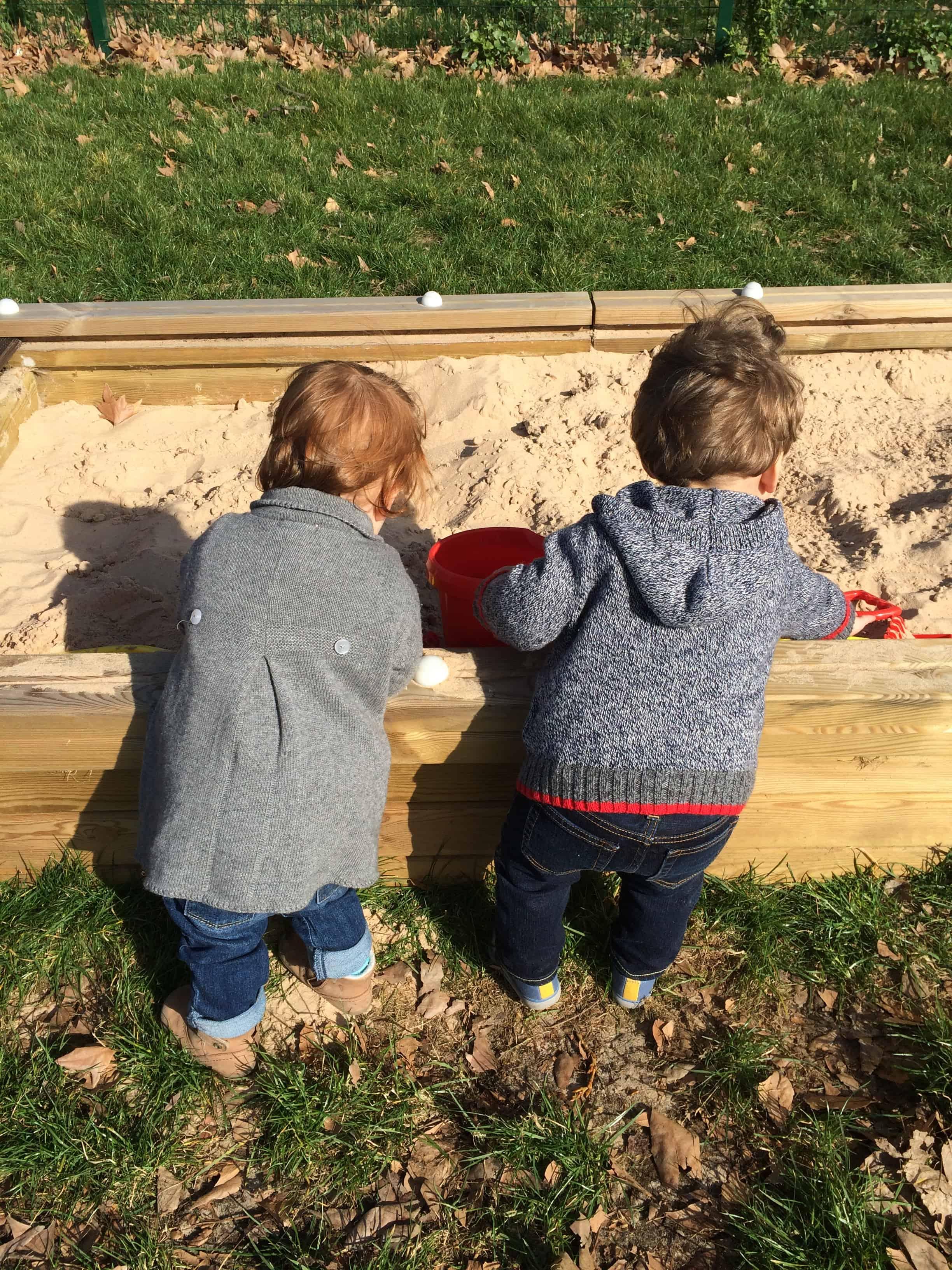 Sandpit fun at playgroup