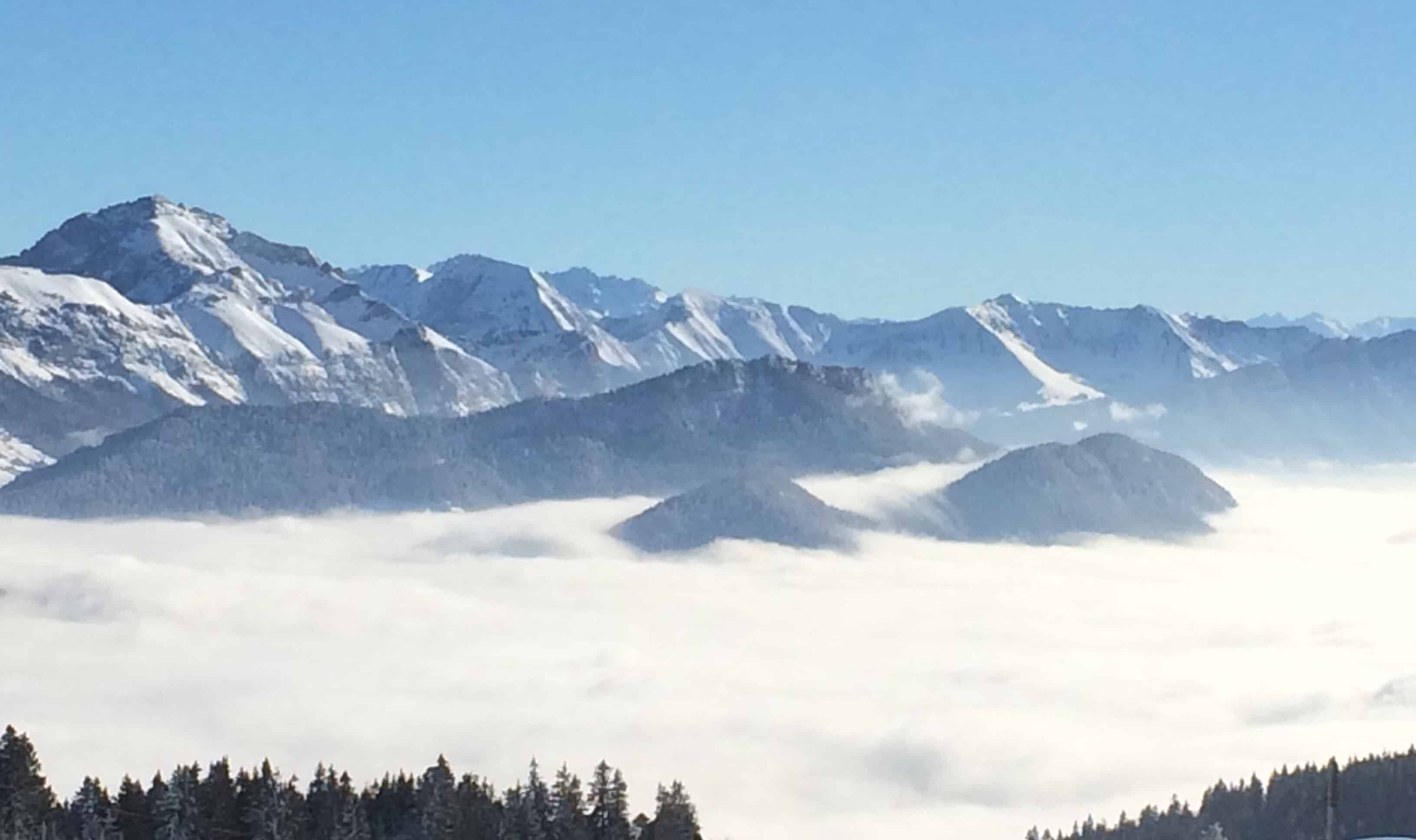 View of French Alps from Semnoz