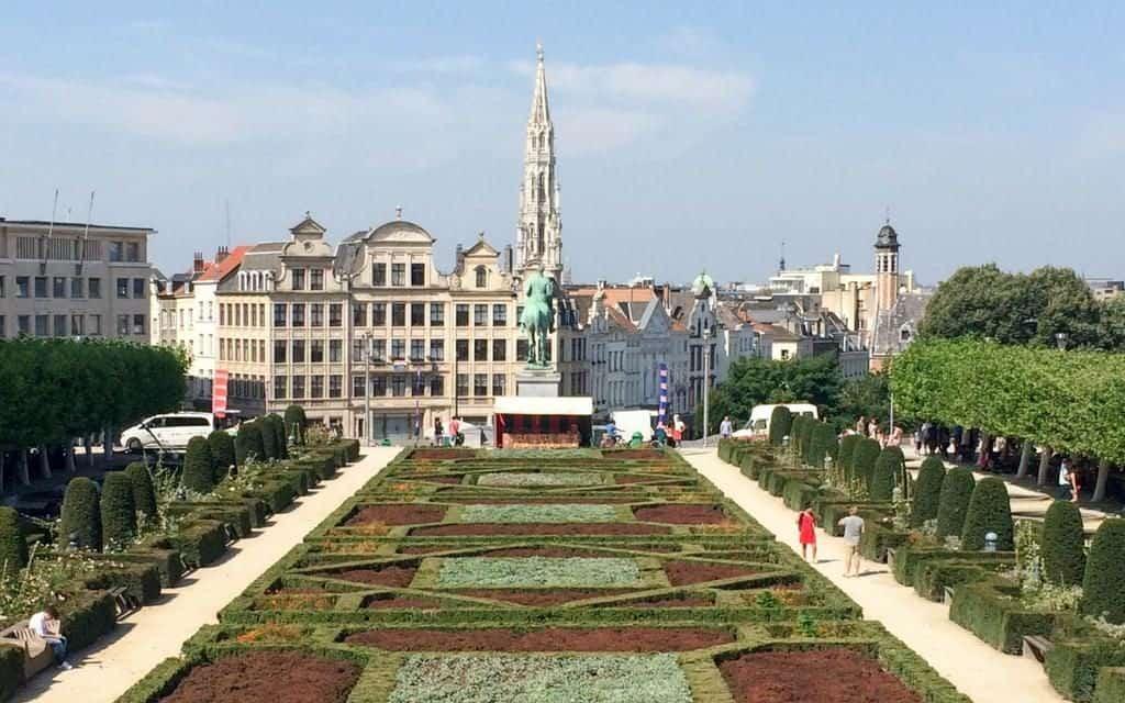 Brussels view from Jardin du Monts - weekend in Brussels