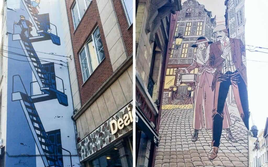 Weekend in Brussels - Street art murals can be found all over Brussels