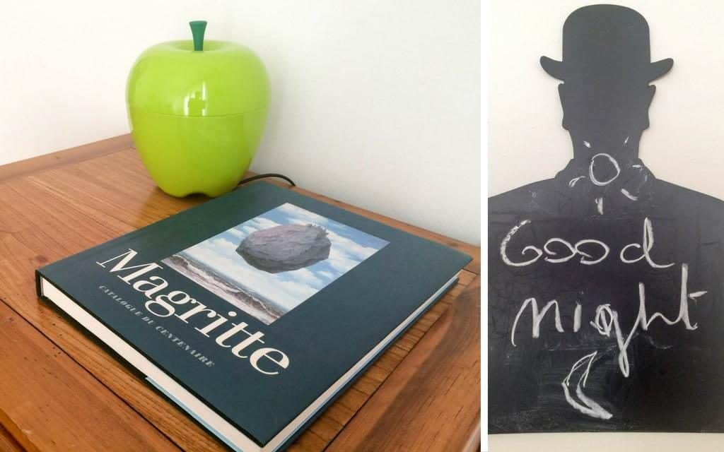 A nod to Magritte in our Brussels AirBnB apartment