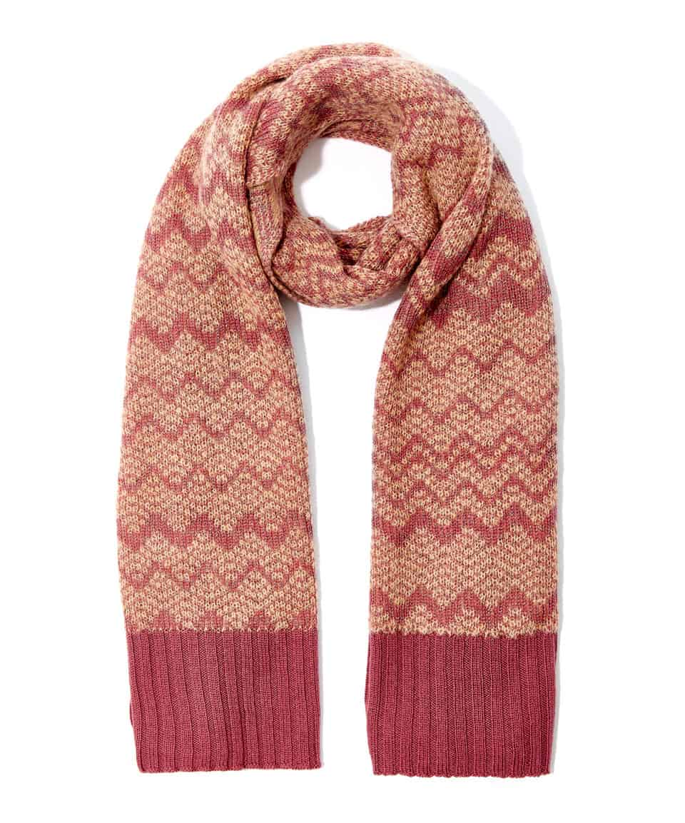 missoni pink zigzag mohair blend scarf