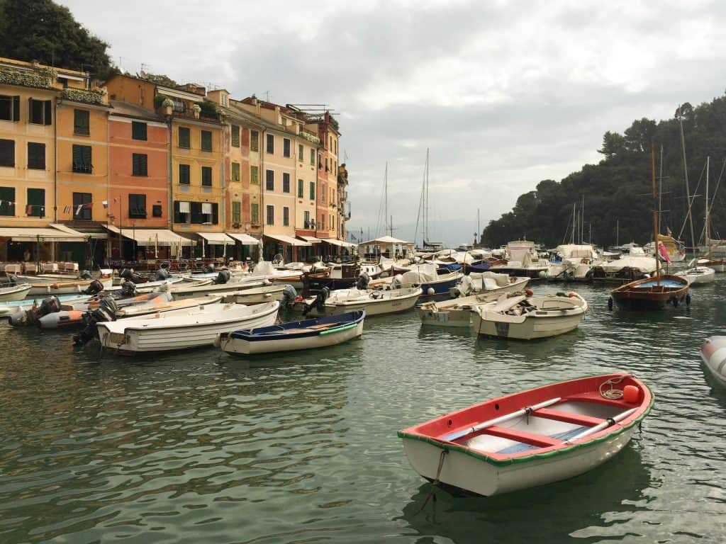 Portofino | Italy - boats and superyachts in the small harbour - great for people watching