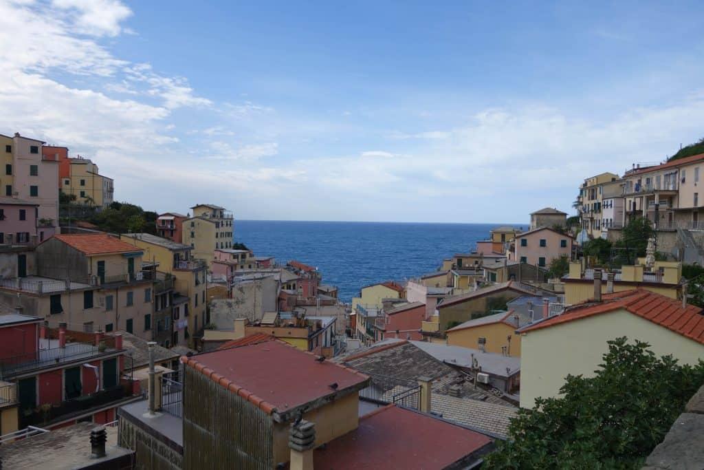 Cinque Terre | Italy - View of the Ligurian Sea from the top of Riomaggiore