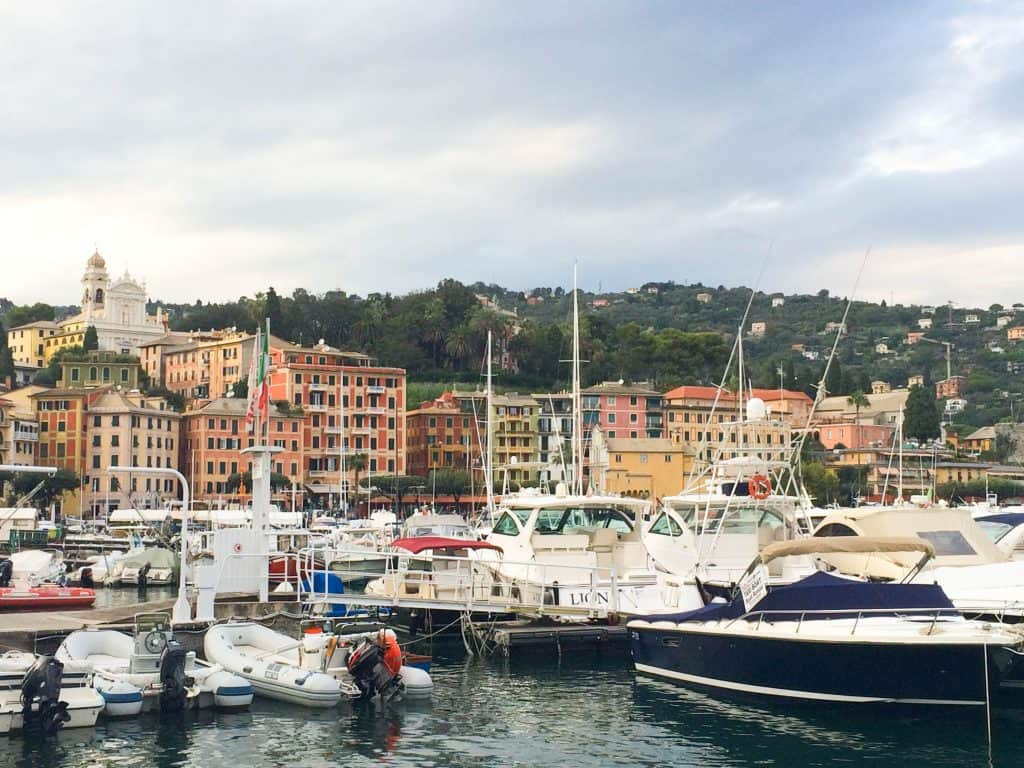 Italian Riviera - the harbour at Santa Margherite Ligure - a great place to wander at sunset before dinner