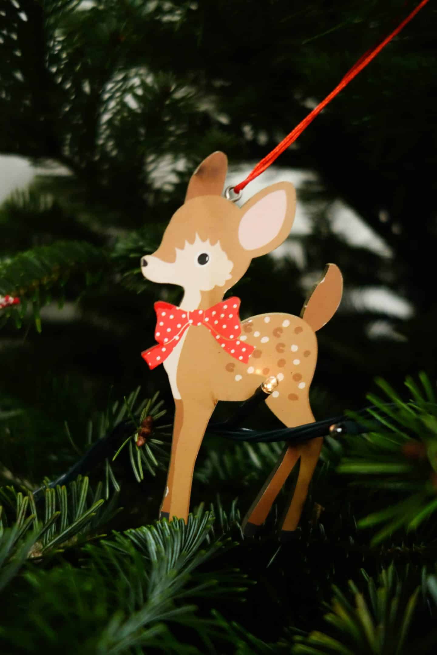 Christmas tree decorations - fawn