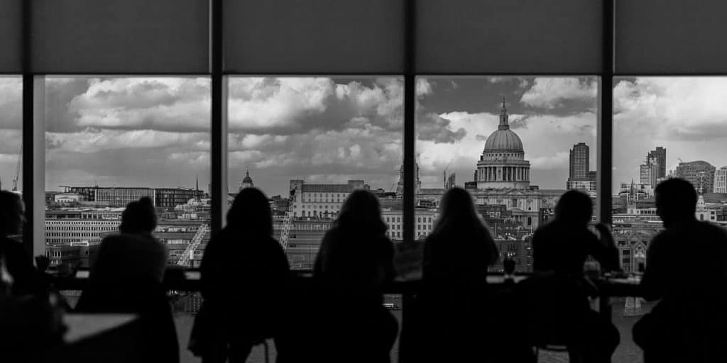 London in winter - view of St Pauls from the Tate Modern