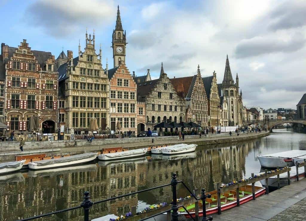 Graslei Harbour Ghent Belgium