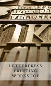 Learning letterpress