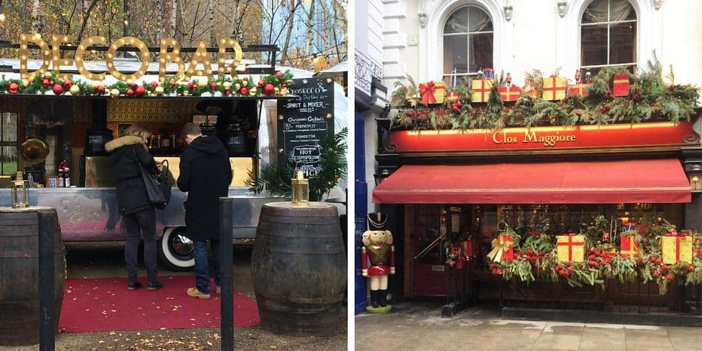 Festive decorations and mulled wine - a London Christmas - winter in London