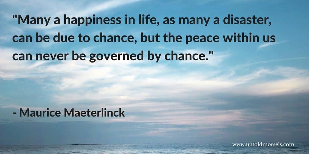 Maurice Maeterlinck quote