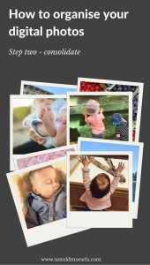 Organising your photos - step two