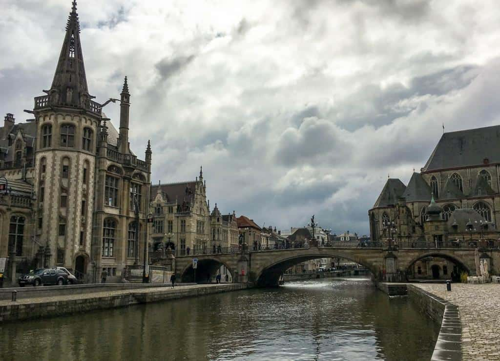 postcard from ghent belgium