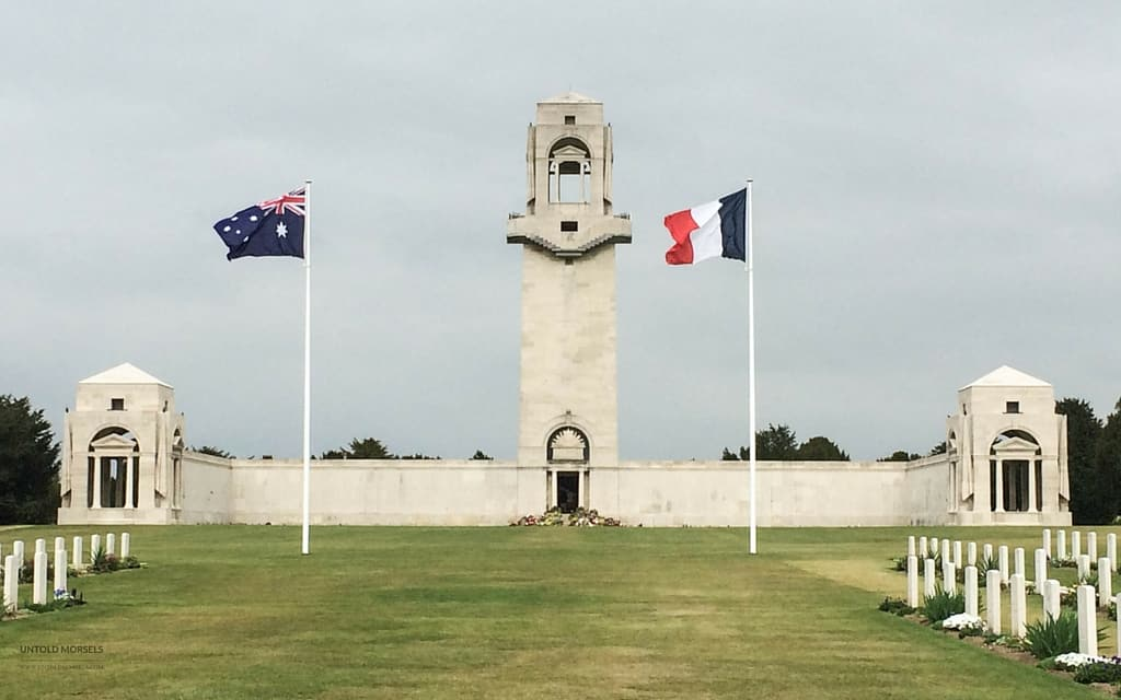Anzac Day memorial in Picardy France