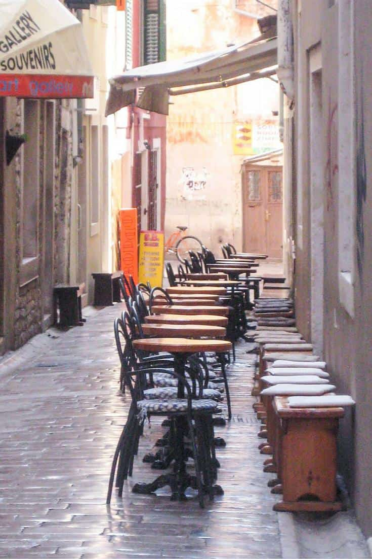Cafes in Zadar old town Croatia