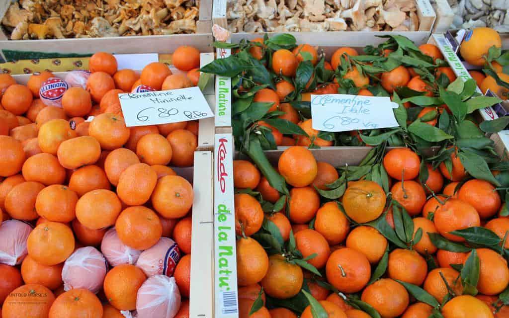 Favourite food markets - Vevey Switzerland - clementines