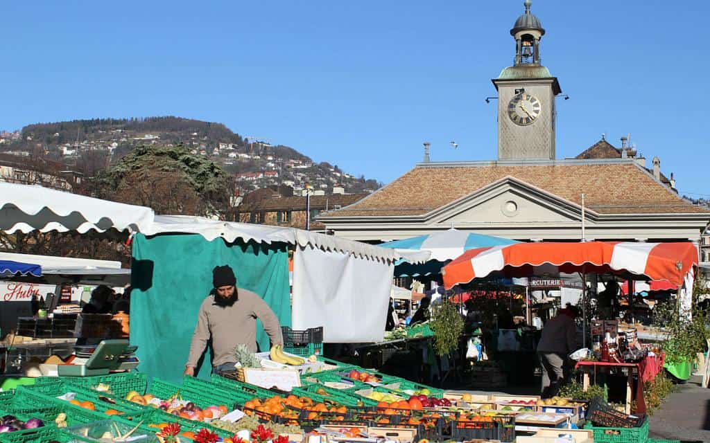 Favourite food markets - Vevey Switzerland - market
