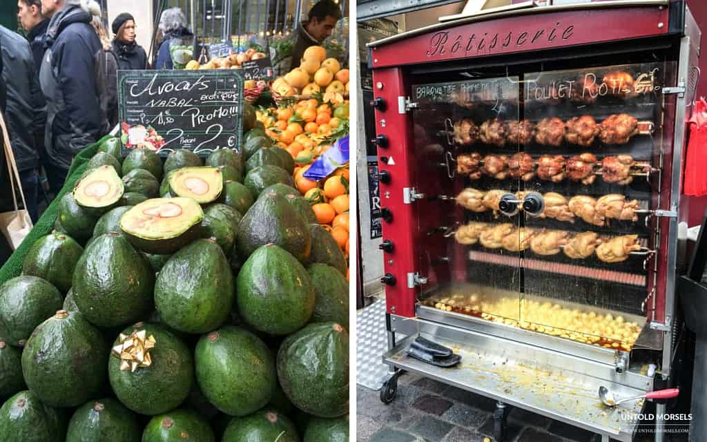Visit a Paris food market