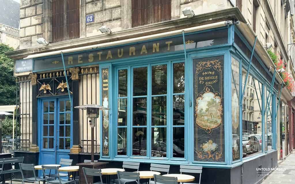 Paris food culture - local Paris bistrot