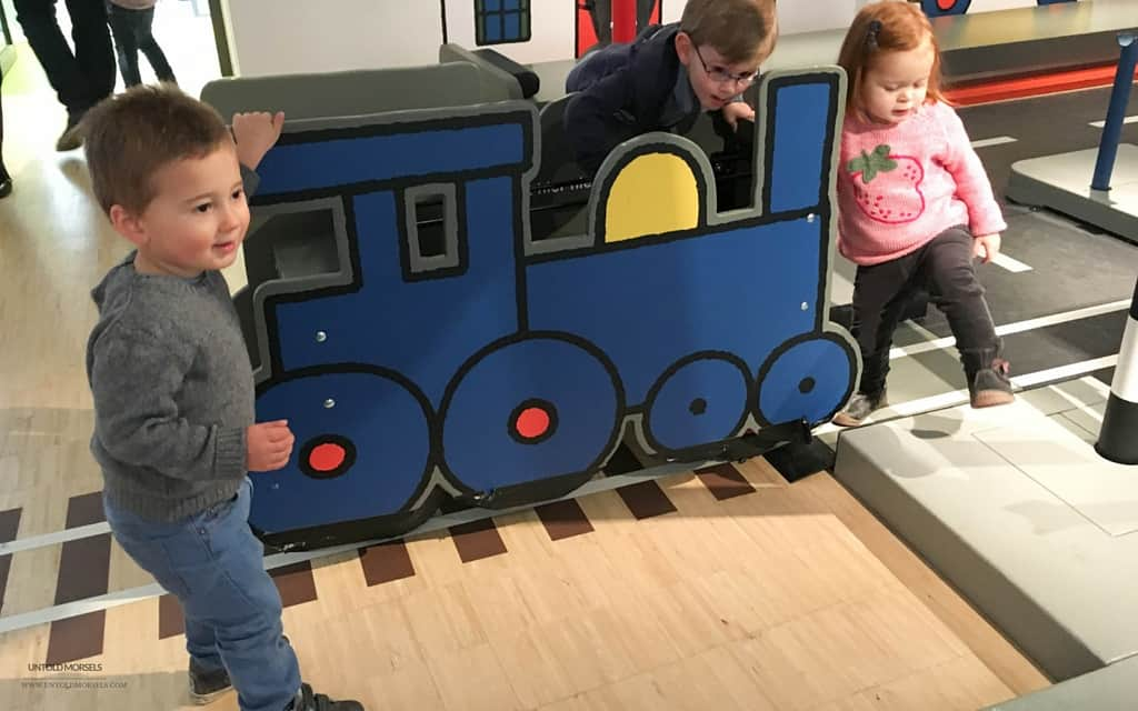 All aboard the train at Miffy's museum in Utrecht