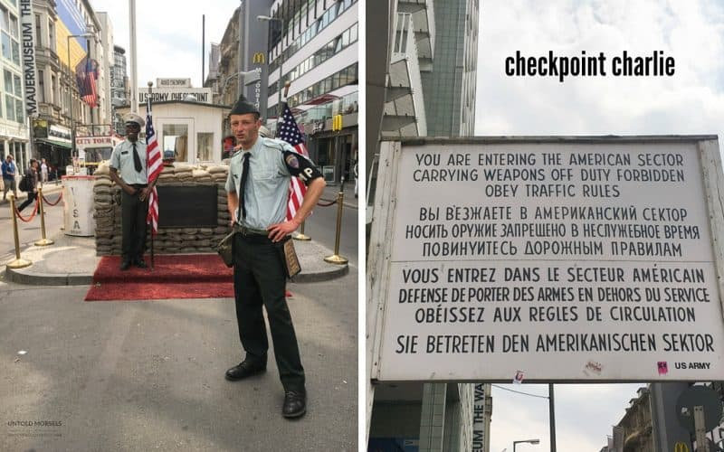 A bike tour of east berlin - check point charlie