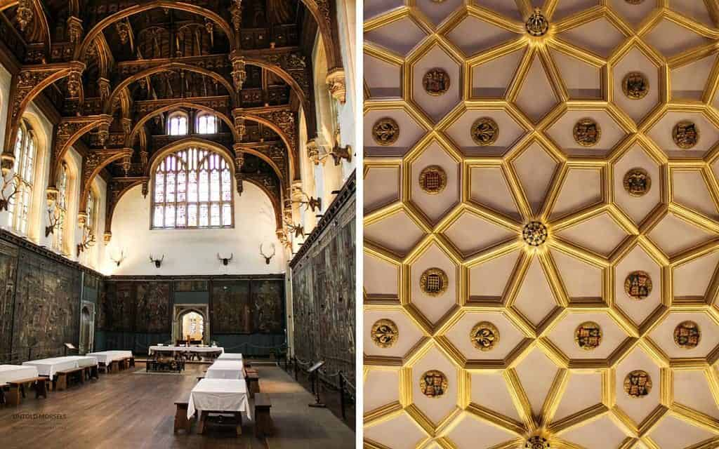 Visit Hampton Court Palace - great hall and ceilings at hampton court