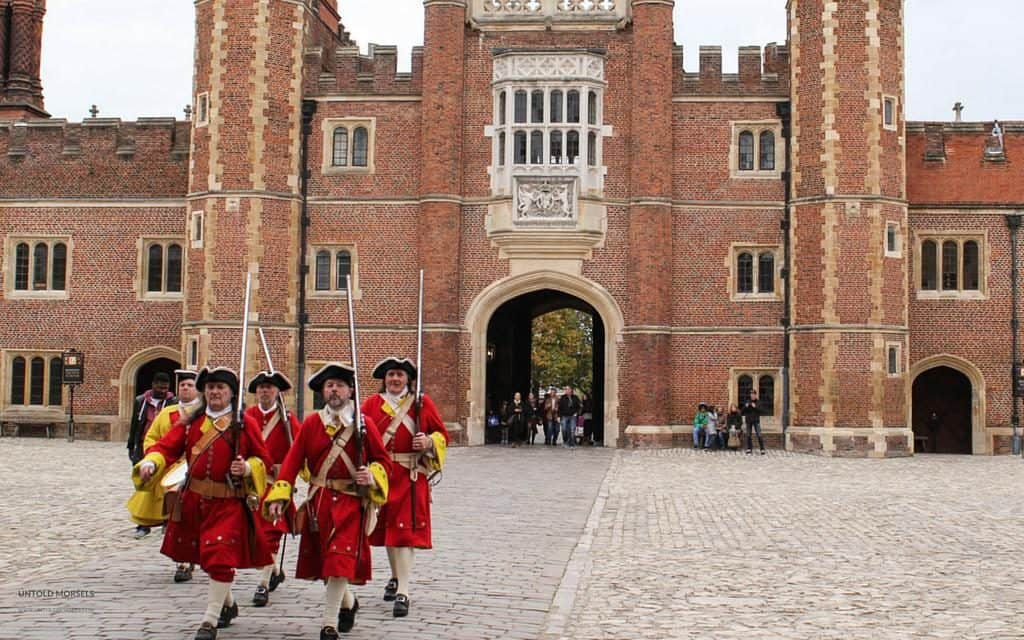 troops at hampton court palace