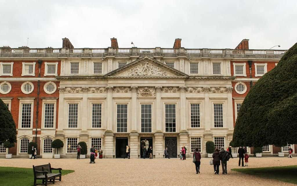 Visit Hampton Court Palace - view of the baroque exterior at hampton court