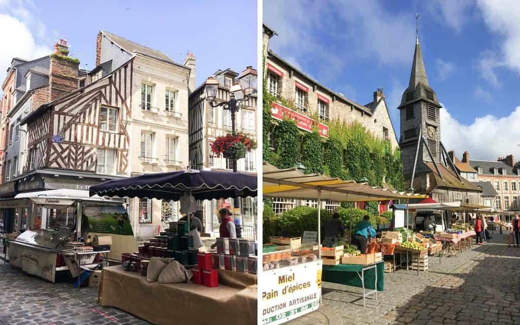 at the produce market honfleur normandy