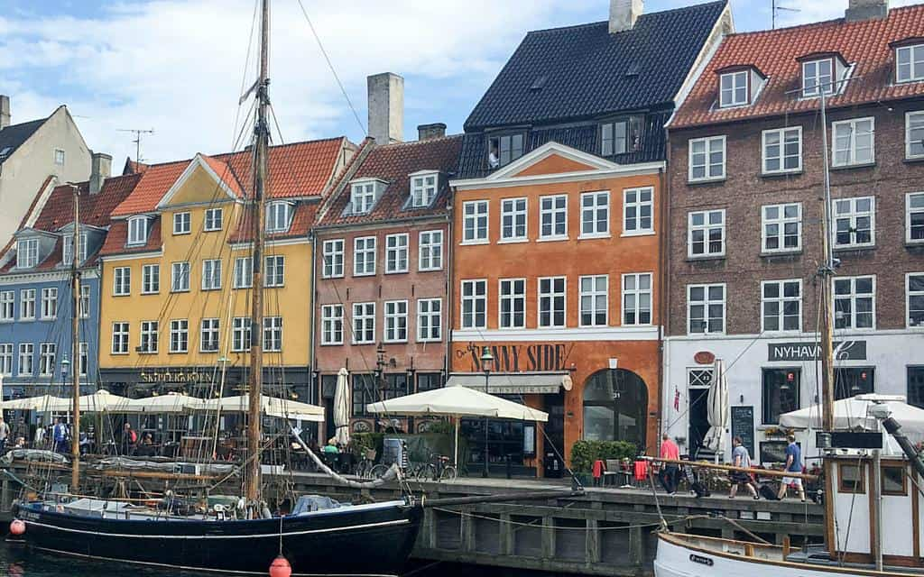 boats moored in nyhavn copenhagen