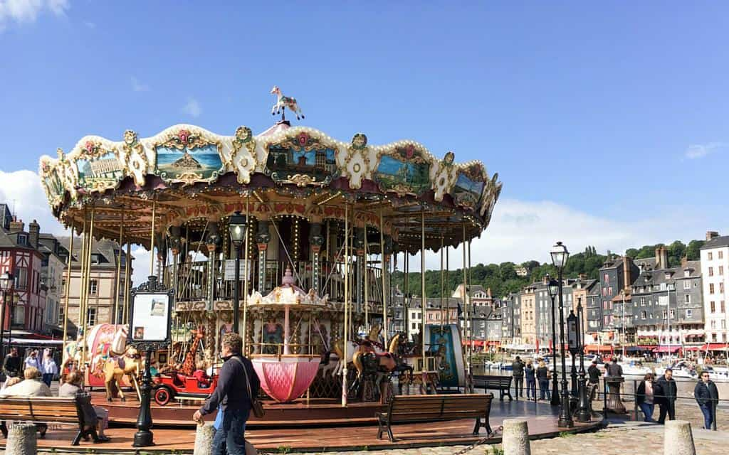 carousel in honfleur normandy - things to do in normandy france