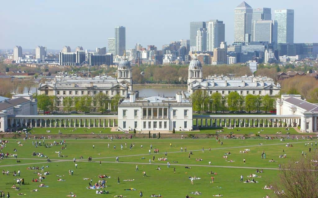 Greenwich park aerial view