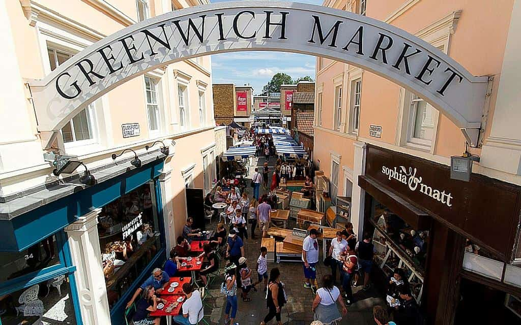 Visit Greenwich Market when you spend the day in Greenwich