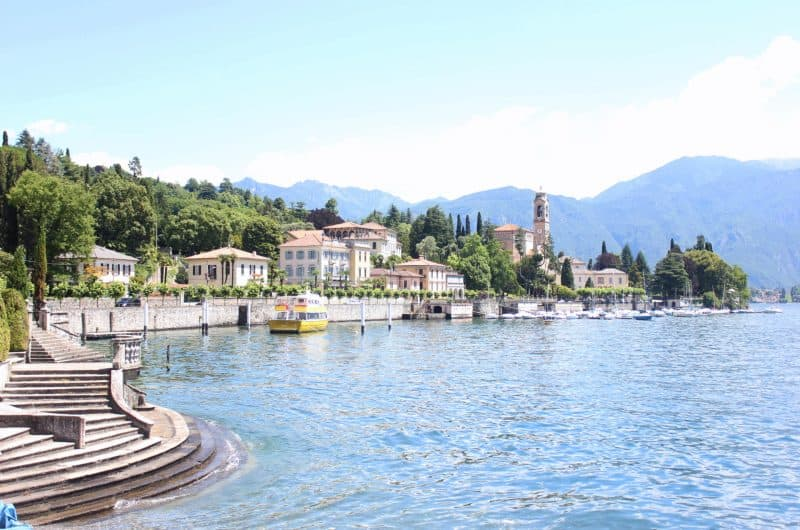 view of lake como italy