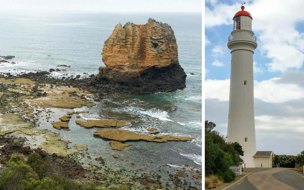Point Split lighthouse Aireys Inlet and view