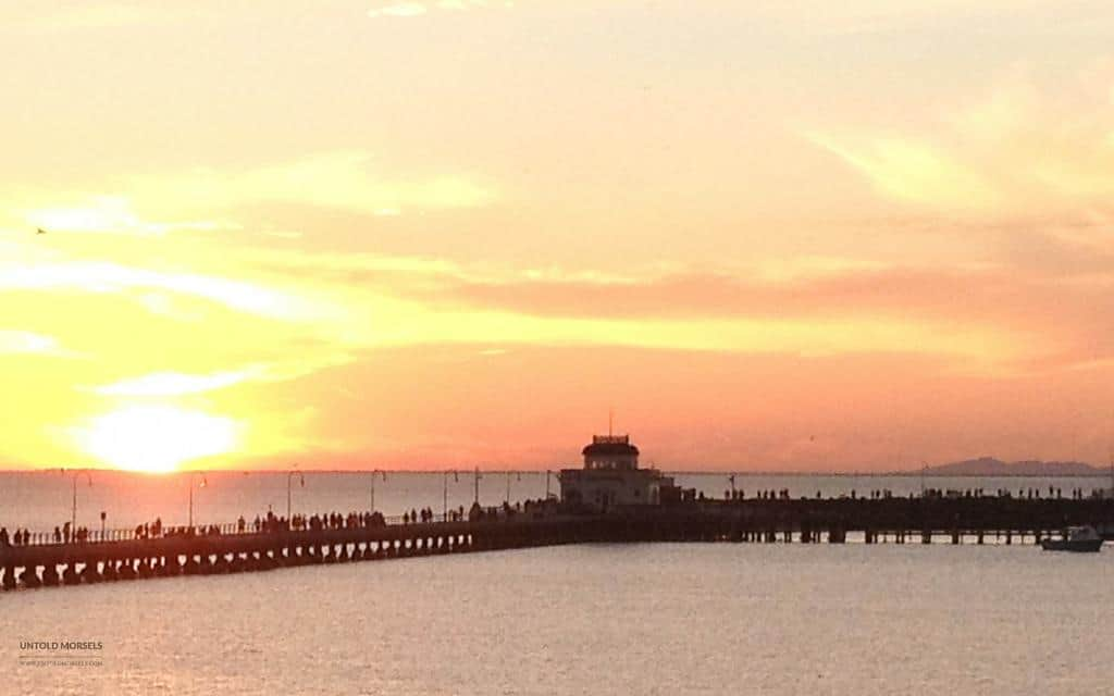 Things to do in St Kilda - the pier at sunset