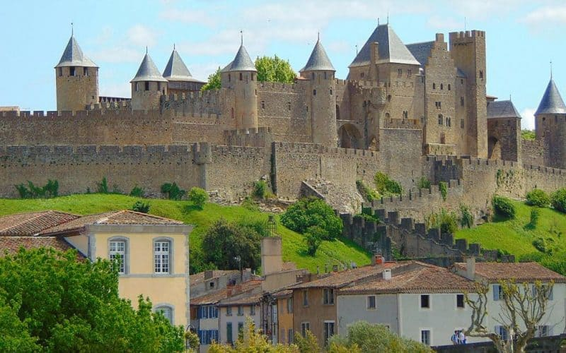 the romantic fortress of Carcassonne France
