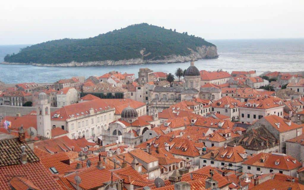 views of Dubrovnik from walls